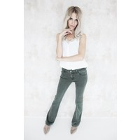 FLARED GREEN - JEANS