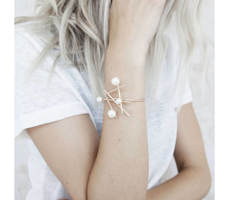 PEARLS GOLD - ARMBAND