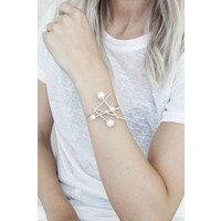 PEARLS SILVER - ARMBAND