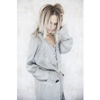 COZY PEARLS GREY - GILET
