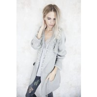 DREAMY LACE SOFT GREY - TOP