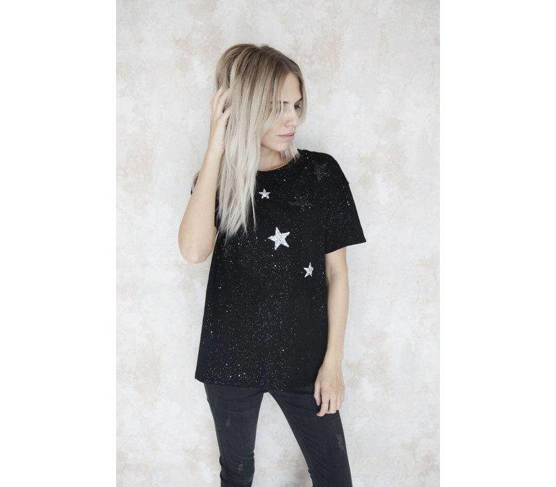 STARRED BLACK - T-SHIRT
