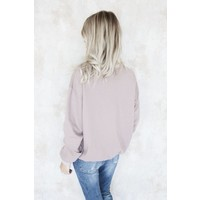 LACED UP PINK - SWEATER