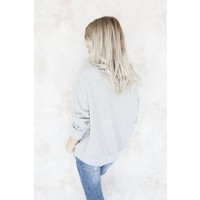 LACED UP GREY - SWEATER