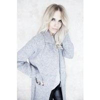LONG LIZA SOFT GREY - GILET