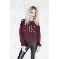 CHIC RED - SWEATER