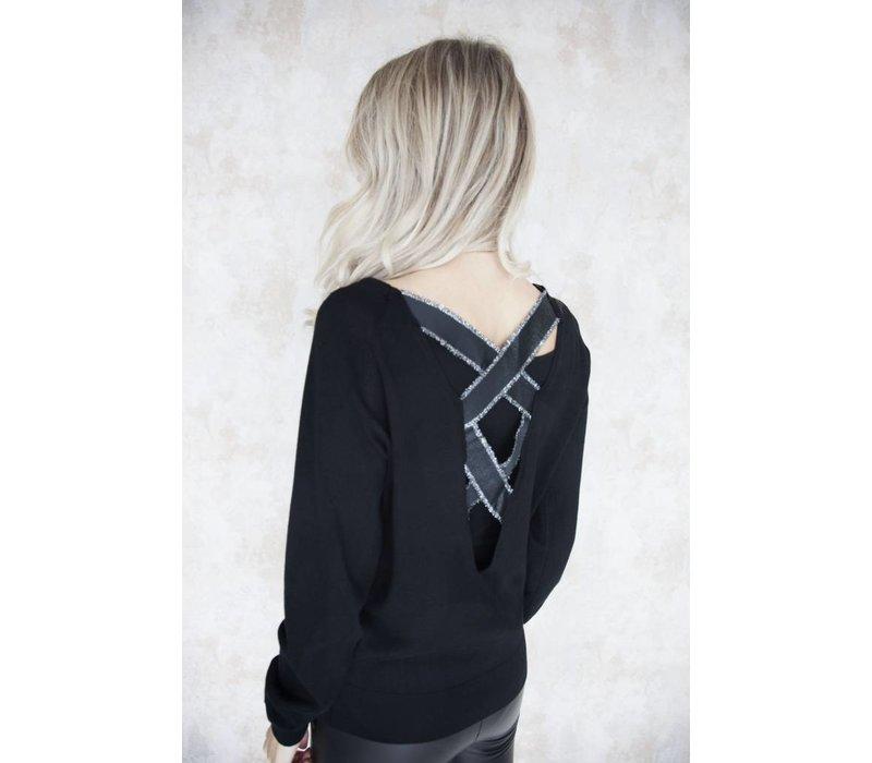 CROSSED BACK BLACK - TRUI