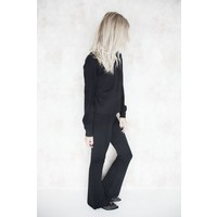 COZY FLARED BLACK - BROEK