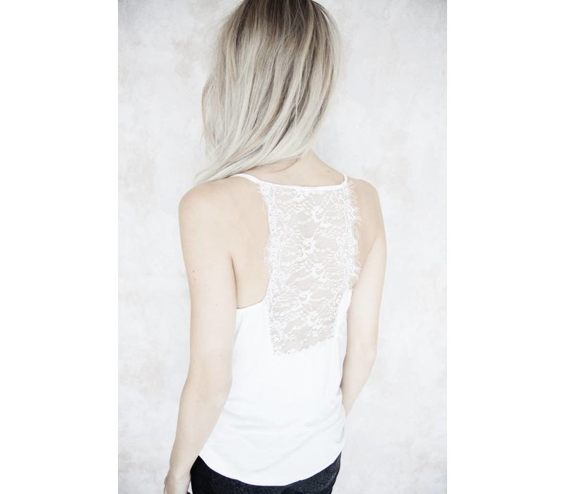 LIZY LACE WHITE - TOP