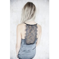 LIZY LACE GREY - TOP