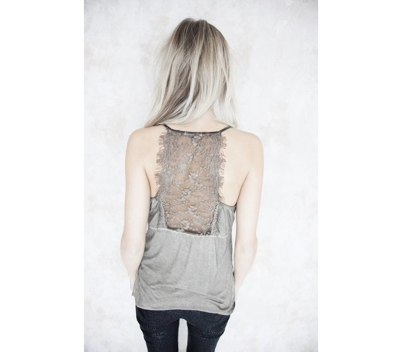 LIZY LACE BROWN - TOP