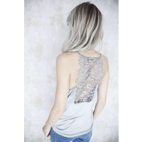 LIZY LACE LIGHT GREY - TOP