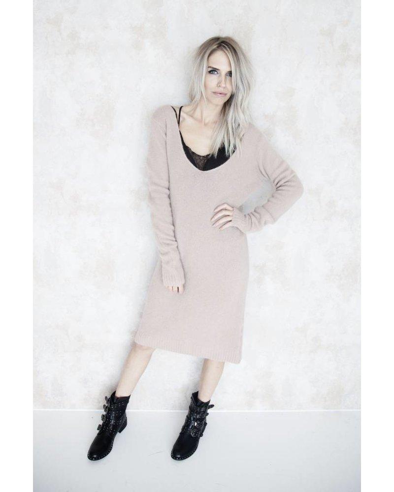 MELANY PINK - SWEATER DRESS