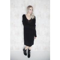 MELANY BLACK - SWEATER DRESS