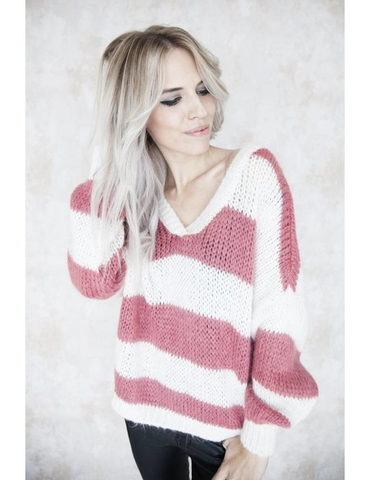 COZY STRIPED HOT PINK