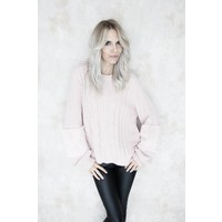 FURRY SLEEVES PINK - SWEATER