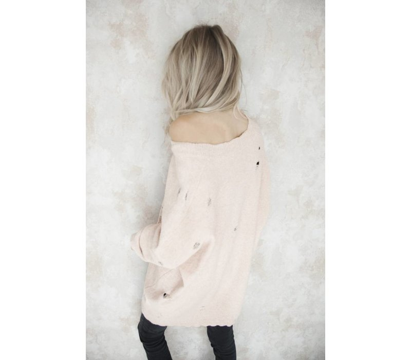 RIPPED PINK - SWEATER