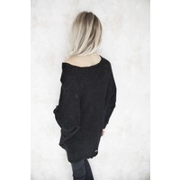 RIPPED BLACK - SWEATER