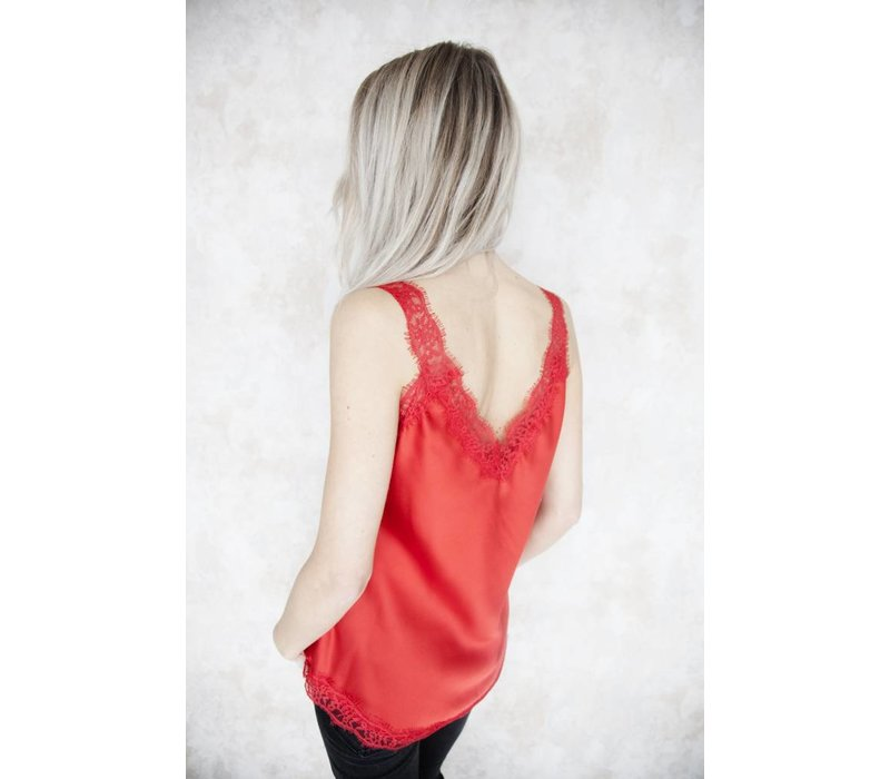 IVY SATIN RED - TOP