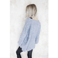 KNITS & PEARLS SKY BLUE - SWEATER