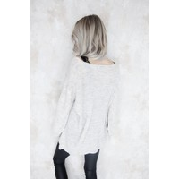 KNITS & PEARLS CREME - SWEATER