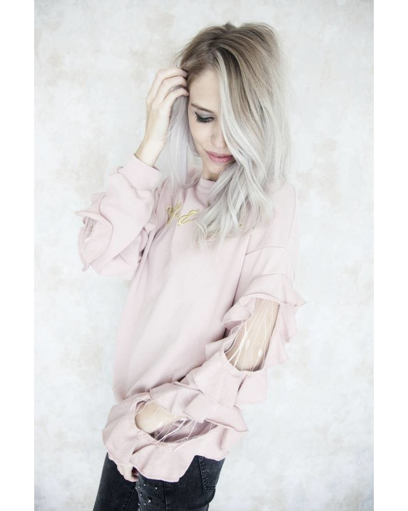 COFFEE AND CHILL PINK - SWEATER