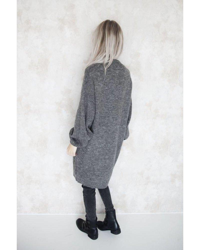 LONG CATHY GREY - SWEATER DRESS