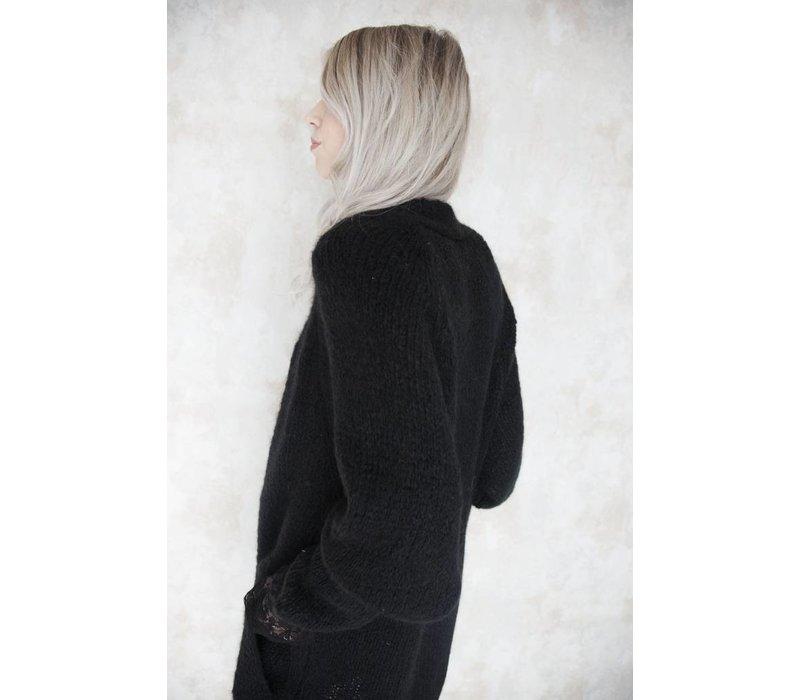 LONG BABETTE BLACK - GILET