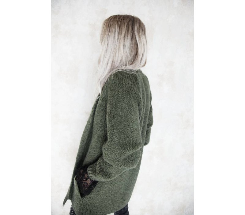 LONG BABETTE FOREST GREEN - GILET