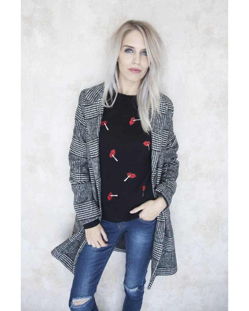 RED LIPS BLACK - SWEATER