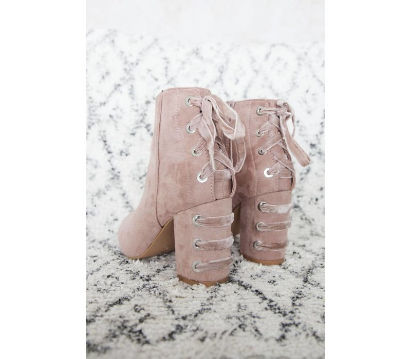 LACED UP PINK - HEELS