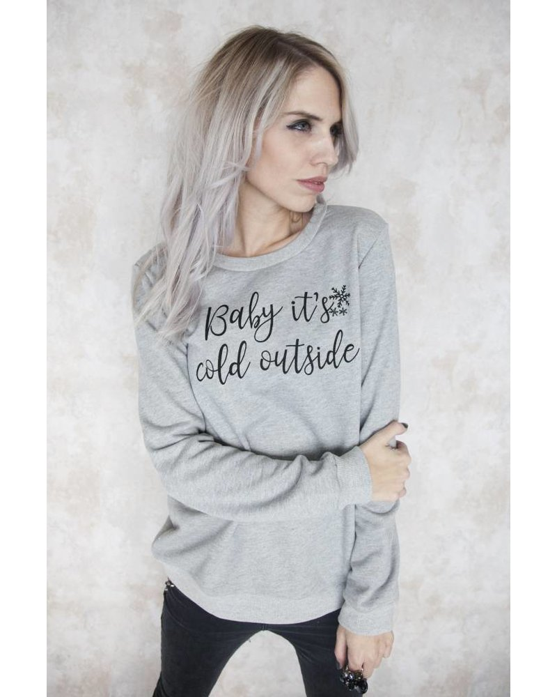 BABY IT'S COLD GREY - SWEATER