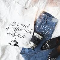 COFFEE & MASCARA - T-SHIRT