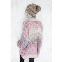 OMBRE MIXED PINK - GILET