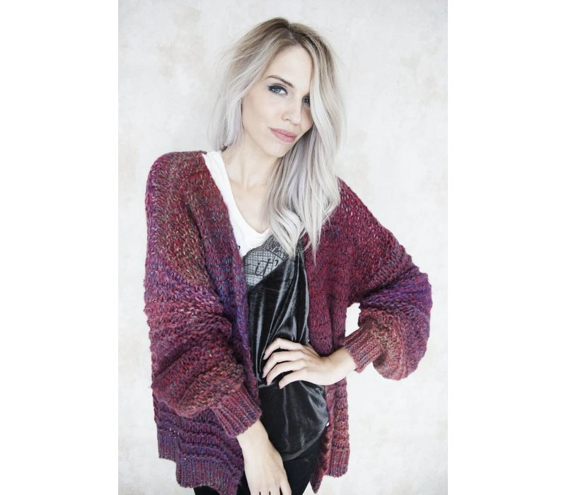 OMBRE MIXED BURGUNDY - GILET