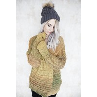 OMBRE MIXED MUSTARD - GILET