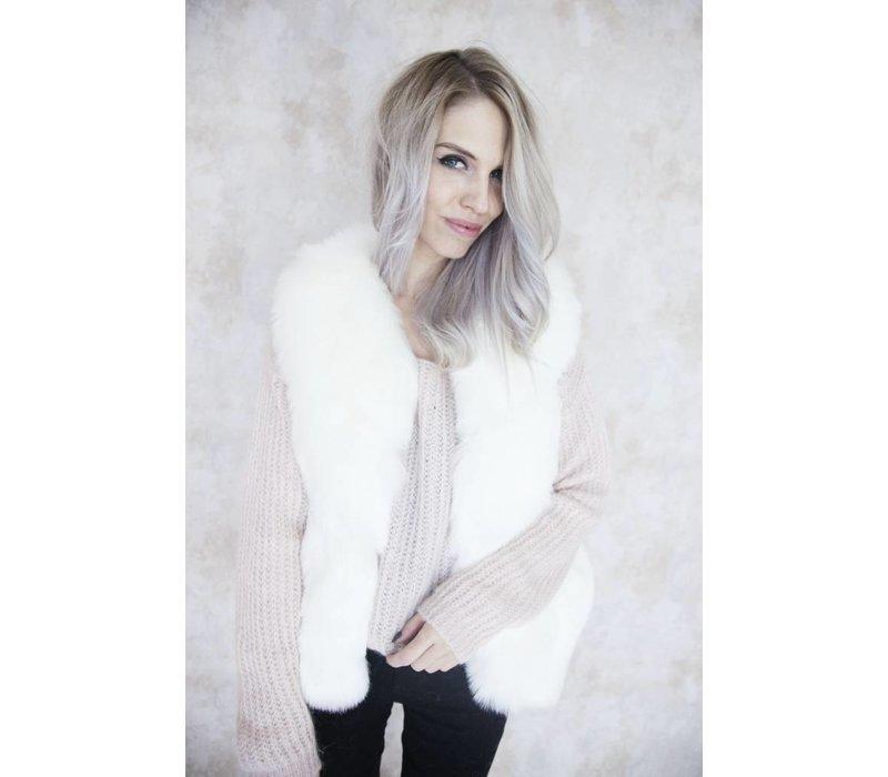 MY FURRY WHITE - BODY WARMER