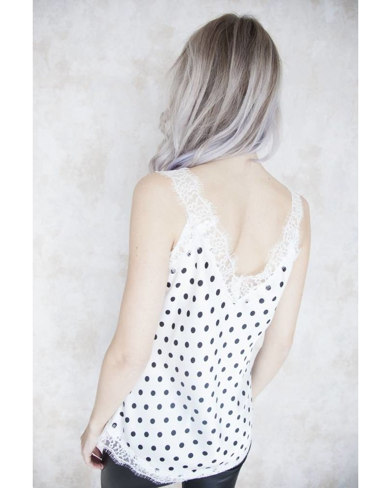IVY DOTS WHITE - TOP