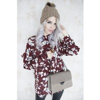 WINTER TIME FLOWER RED - BLOUSE