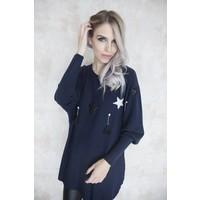 FESTIVE STAR BLUE - SWEATER