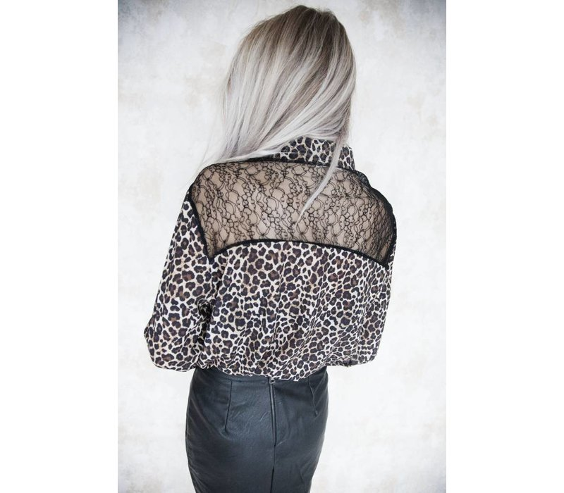 LACE AND LEOPARD - BLOUSE