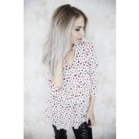 PARTY STARS WHITE - BLOUSE