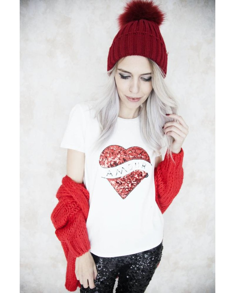 AMOUR WHITE - T-SHIRT