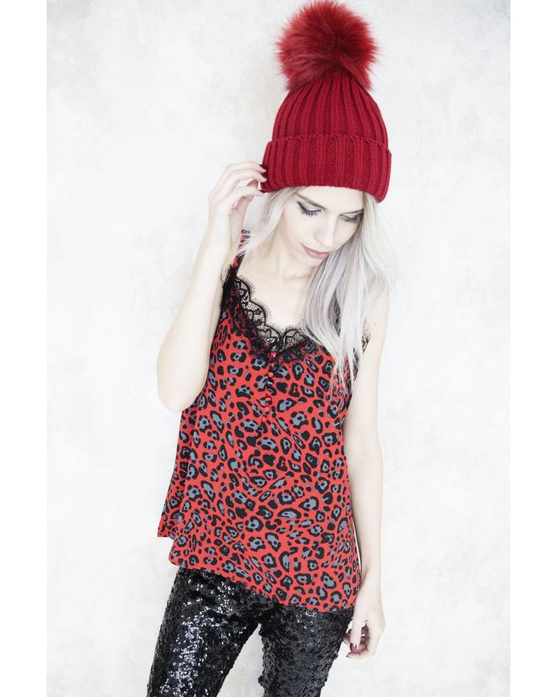 LILY RED LEOPARD - TOP
