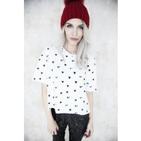 BLACK HEARTED - T- SHIRT