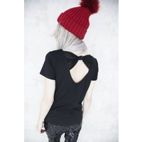 BOW IN THE BACK BLACK - T- SHIRT
