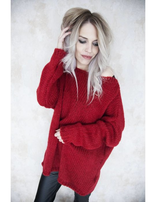 LONG KNITTED RED