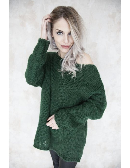 LONG KNITTED GREEN