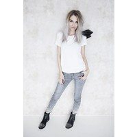 BOW WHITE- T-SHIRT