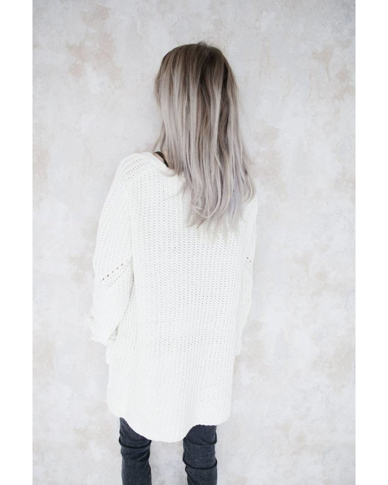 AMELIE WHITE - SWEATER